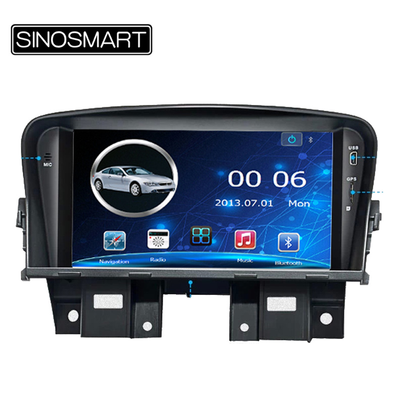 SINOSMART 7 inch 800MHz WIN CE Vehicle GPS Navigation for Chevrolet Cruze 2009-2013 High Version Keep Car Original CD System(Hong Kong)