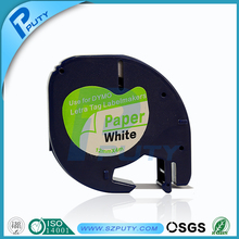 Black on white 12mm*4m DYMO label printer thermal transfer ribbon LT 91200 for dymo letratag label printer