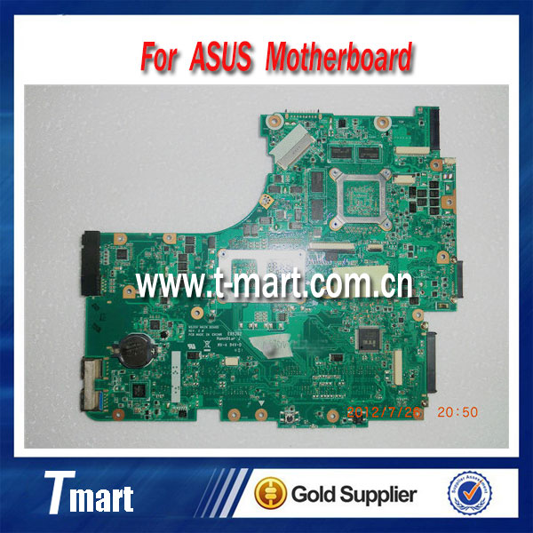 100% Original Laptop Motherboard 4 RAM Slots for ASUS  N53SV N53SN N53SM good condition working perfectly<br><br>Aliexpress