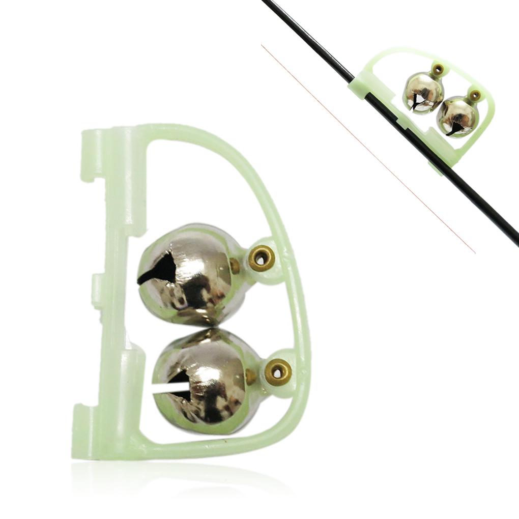New fashion 1PCS luminous double slider sea fishing rod mounted bell night fishing bell bite alarm