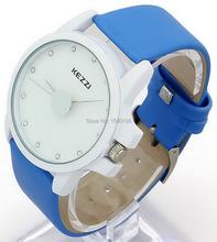 Kezzi Couples' Watches K670 Quartz Analog Dress Wristwatches Couples Leather Candy Colors