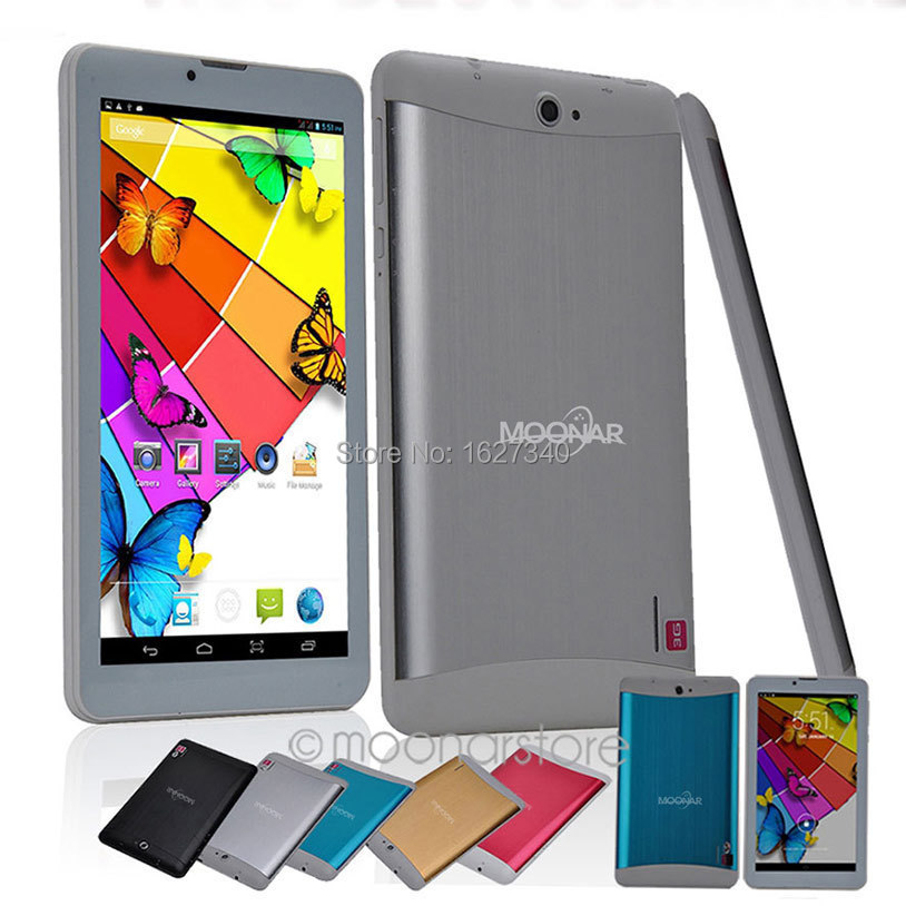 7 inch Dual Core 3G Phone cheap Tablet PC 1024*600 Android 4.2 4G ROM Dual SIM Cameras Bluetooth GPS OTG mini computer notebook(China (Mainland))