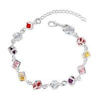 2016 Jewelry 925 Silver Sterling Bracelets For Women Aaa Cubic Zirconia Charm Bangles Role Chain Cristal Casual Love Diy Gift