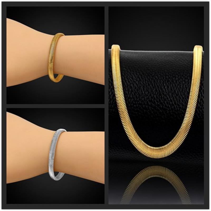 5mm Brand New Trendy Stylish Gold Plated Snake Chain Bracelets Unique Vintage Bracelet Men Jewelry Pulseira Masculine Wholesale(China (Mainland))
