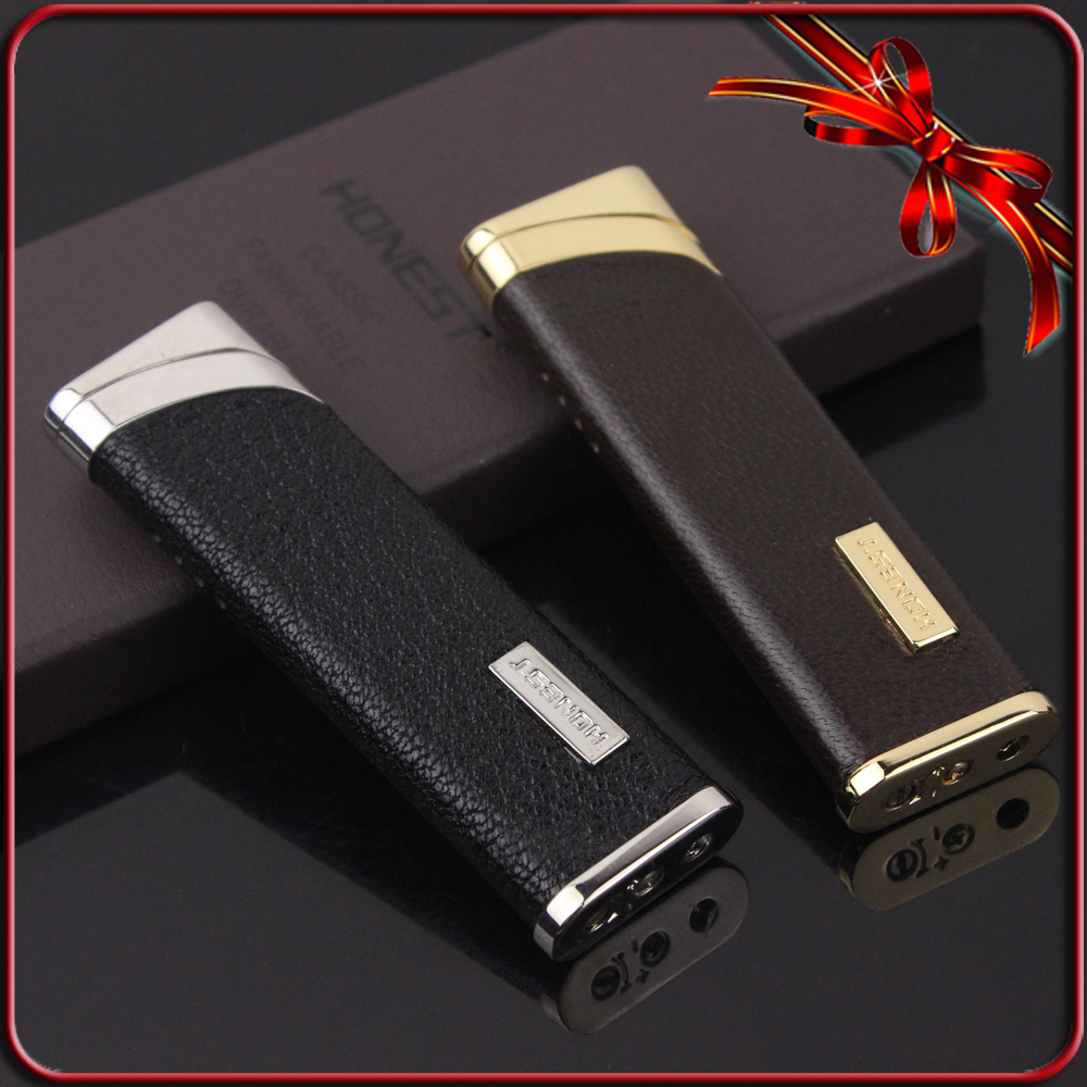 FIREBIRD Windproof Geniune Leather Wrapped W/Gift Box Cigarette Cigar Lighter(China (Mainland))