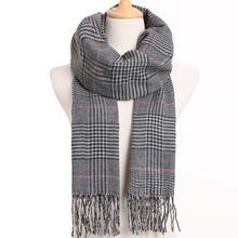 [VIANOSI] 2019 bufanda de diseño lujoso para Hombre, poncho de Bufandas a cuadros, Bufandas casuales de invierno para Hombre(China)