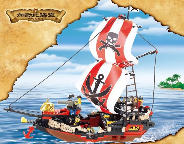 Pirates of Caribbean series Queen Anne's revenge compatible with lego ship Building block set Construction Model Bricks Toys