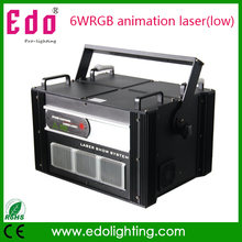 New 6WRGB animation laser stage light disco laser light stage light free shipping(China (Mainland))