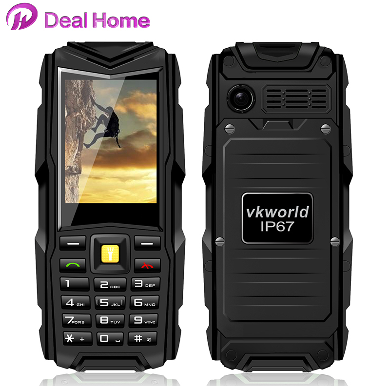 """New Arrival Rugged cellular Phone Stone V3 Vkworld VKV3 big battery Feature Phone 2.4"""" GSM Dual Sim 5200mah 2MP Mobile Phone(China (Mainland))"""