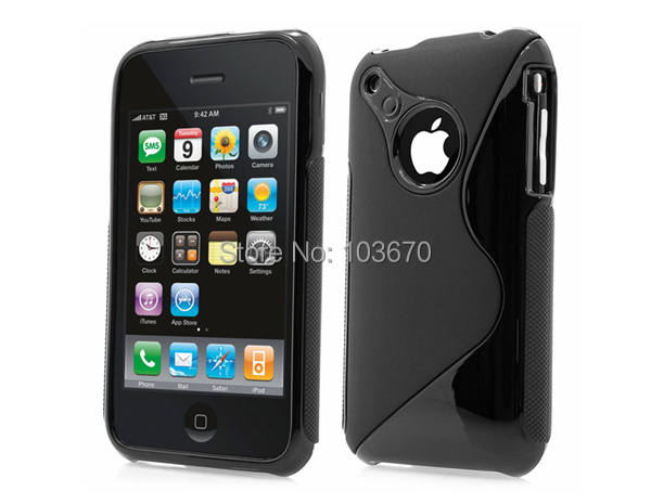 For iPhone 3GS Case, S Line Soft TPU Rubber Gel Case Cover for Apple iPhone 3G 3GS Cell Phone Protective Skin Shell(China (Mainland))