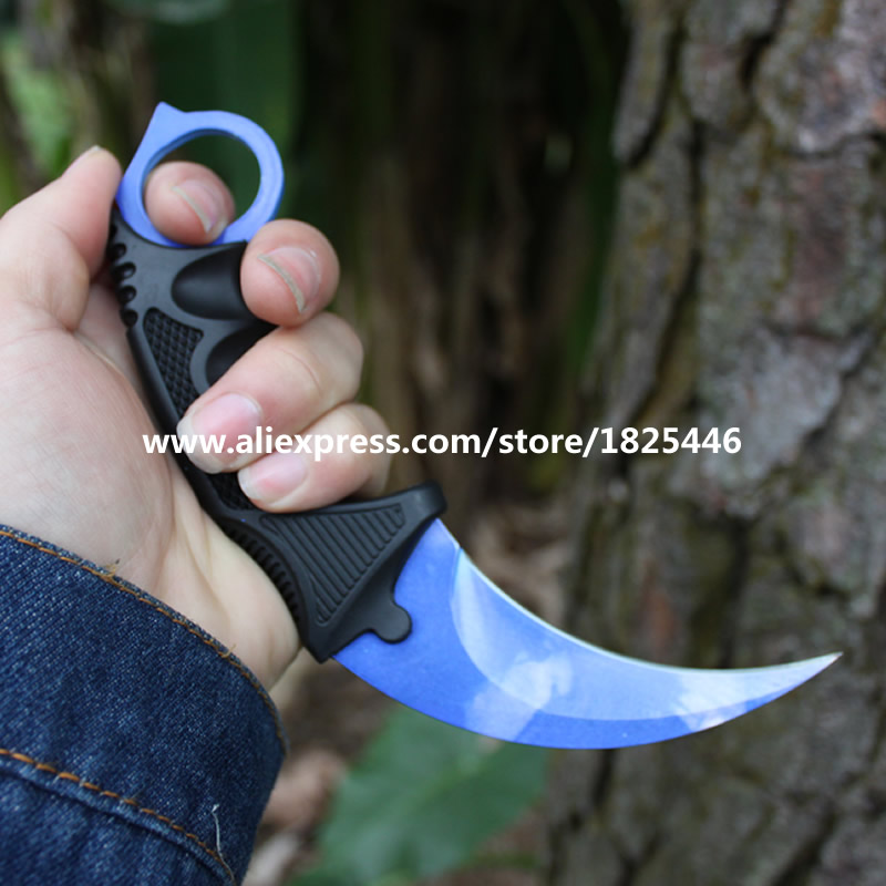 CS GO Karambit Blue sky knife Urban Masked Stained Doppler Fade Tiger Tooth Slaughter Scorched M9 Butterfly Knives Skins MA-4016<br><br>Aliexpress