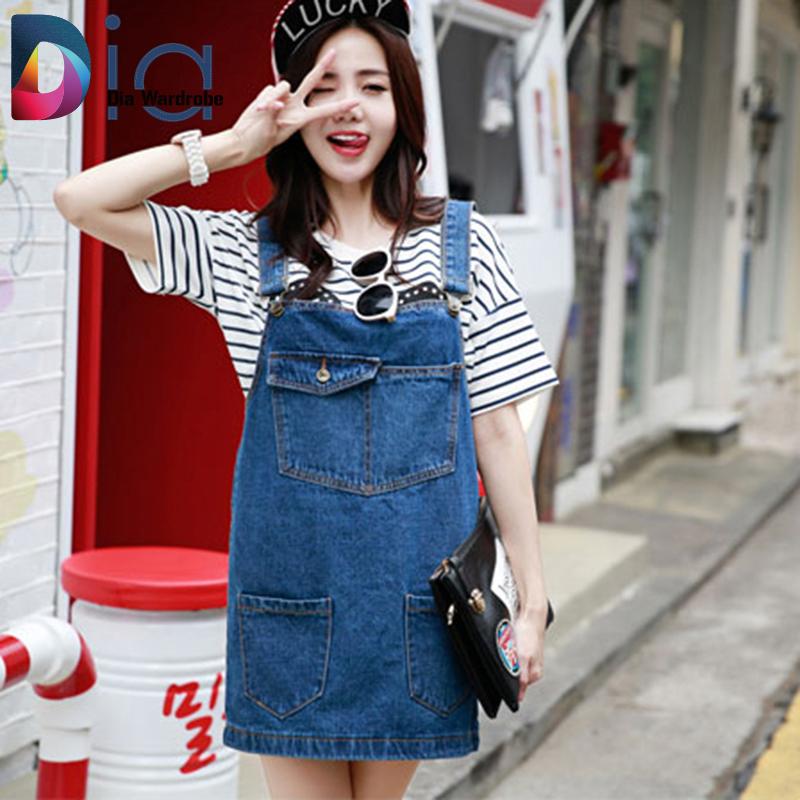 Dia Dresses Denim Jeans Casual Sleeveless Spaghetti Strap Women Dress Cowboy Patchwork New Fashion Female Summer Mini Dress