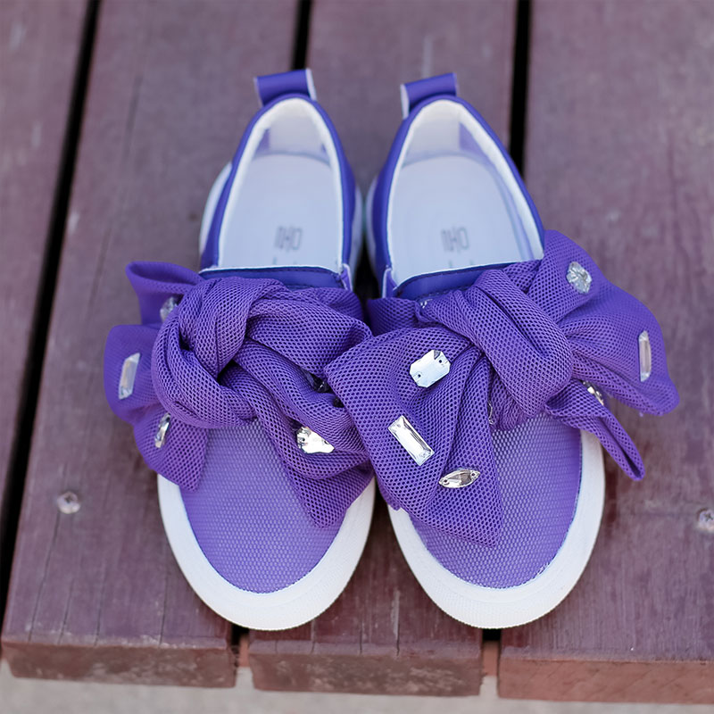 girls kids spring summer shoes 2016 OEM brand color purple kids girls princess Casual Shoes(China (Mainland))