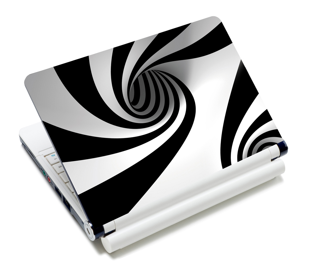 """White and Black 7"""" 8.9"""" 10"""" 10.2"""" 10.1"""" Notebook Sticker Cover Mini Laptop Skin Protector Decal(China (Mainland))"""
