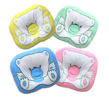1PCS Soft Baby Infant Bedding  Bear Print Oval Shape 100% Cotton Baby Shaping Pillow High Quality(China (Mainland))