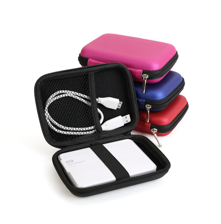 """5 Color New Portable Zipper Case Bag Pouch Protector For 2.5"""" WD Seagate HDD Hard Disk Drive(China (Mainland))"""