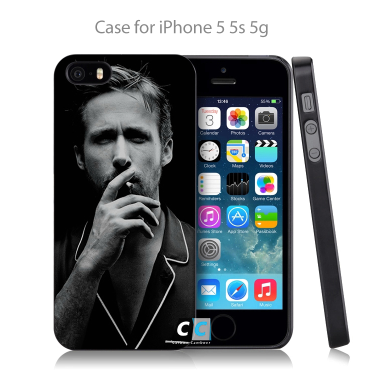 Laser Technology Ryan Gosling Hard Black Case Cover Shell Coque for iPhone 4 4s 4g 5 5s 5g 5c 6 6g 6 Plus(China (Mainland))
