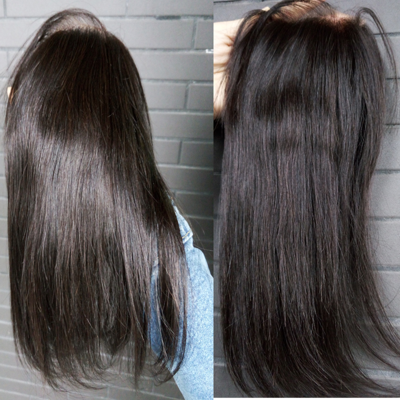 """Bliss New arrival 100% Huma hair,indian hair lace closure free part(4""""x4"""")straight,35g~45g color natural# can be dyed 10""""12""""14""""(China (Mainland))"""