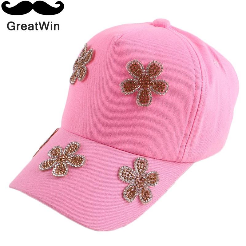 new designer brand floral flower beauty snapback for children boy girl cute gold blue denim cotton baby cute baseball cap hats(China (Mainland))