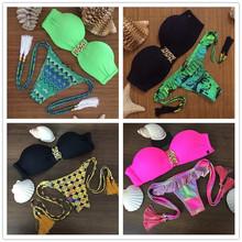 New arrival POLOVI Women Swimsuit Bathing Suit Brazilian Push Up Sexy Bikini Set Swimwear SJ15285