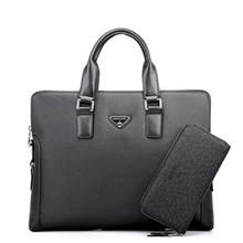 2016Hot Men's Fashion Handbags European and American Business Shoulder Diagonal OL Casual Men's Briefcase Computer Bag(China (Mainland))
