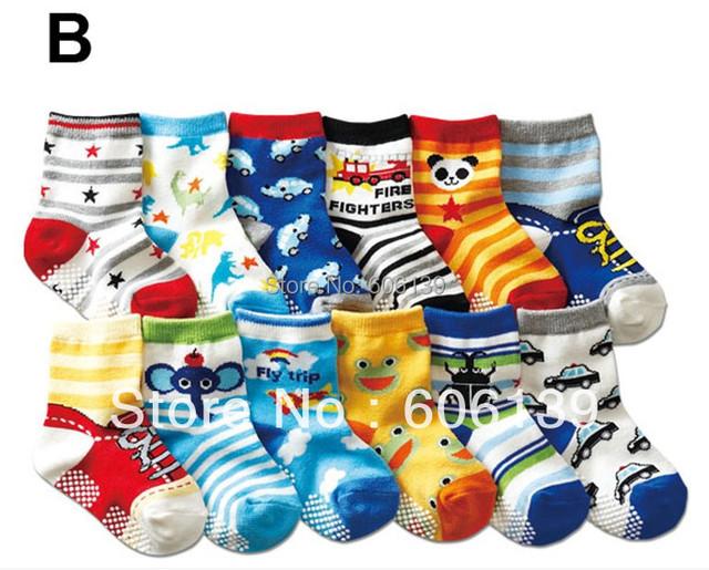 1-3 new  pure cotton children socks antiskid child socks baby floor socks 20 pair/lot