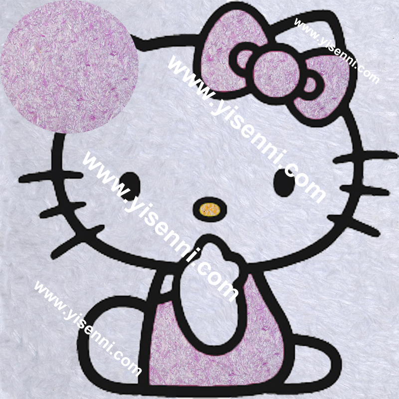 YISENNI DIY Stickers hello kitty Purple 3D Wall Sticker