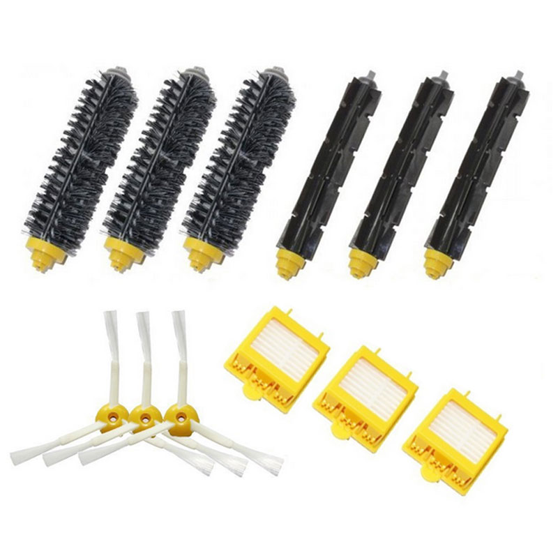 3-Armed Side Brush Bristle Brush Hepa Filter Kit for iRobot Roomba 700 Series 750 760 770 780 790 Vacuum Cleaner Parts(China (Mainland))