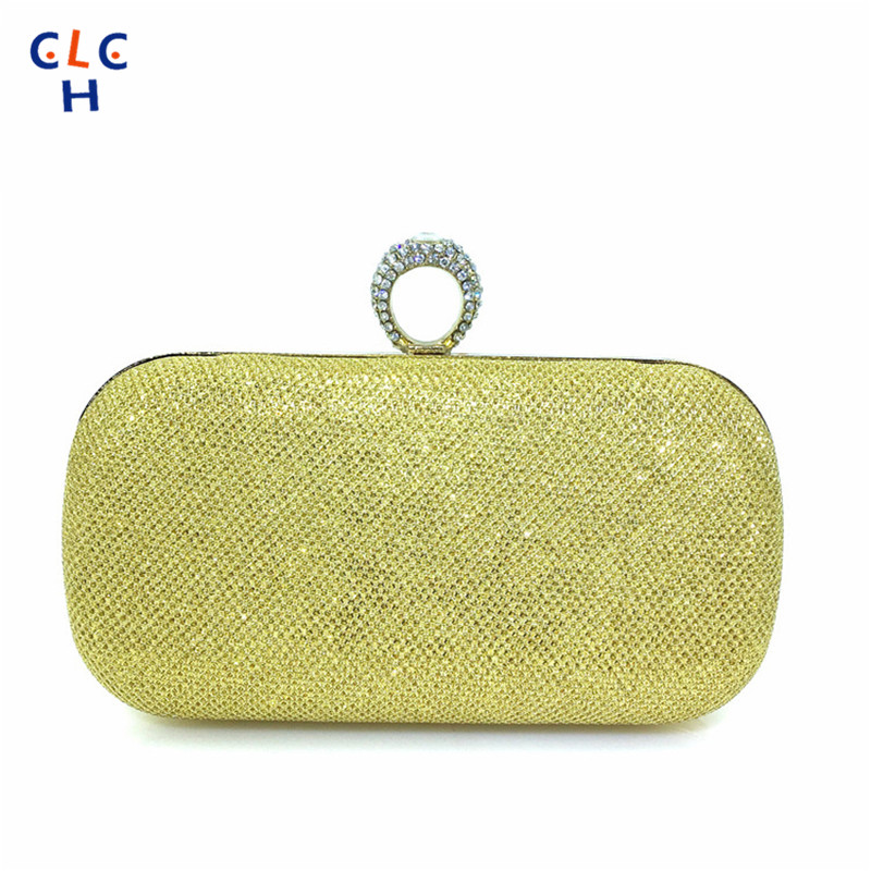 Matte Fabrics Fashion Factory Direct Hard Case Clutch Evening Bag Banquet Package Minaudiere 2016 Crystal Clutch Cluch Handbag(China (Mainland))