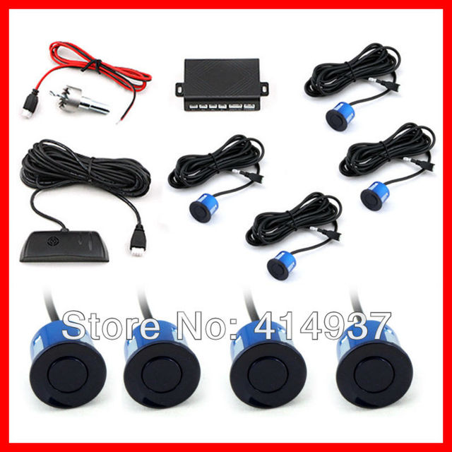 Parking Sensor System with 4 Sensors LED display 3 colors Car Parking Assistance