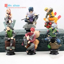 6 pcs Naruto Action Figure Full Set Ceil Doll Q Version Edition Japan Anime Naruto Toy Collectibles Gift Cosplay Kids Toys P20