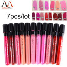 Hot, high quality Waterproof Elegant Daily Color Lipstick matte smooth lip stick lipgloss Long Lasting Sweet girl Lip Makeup