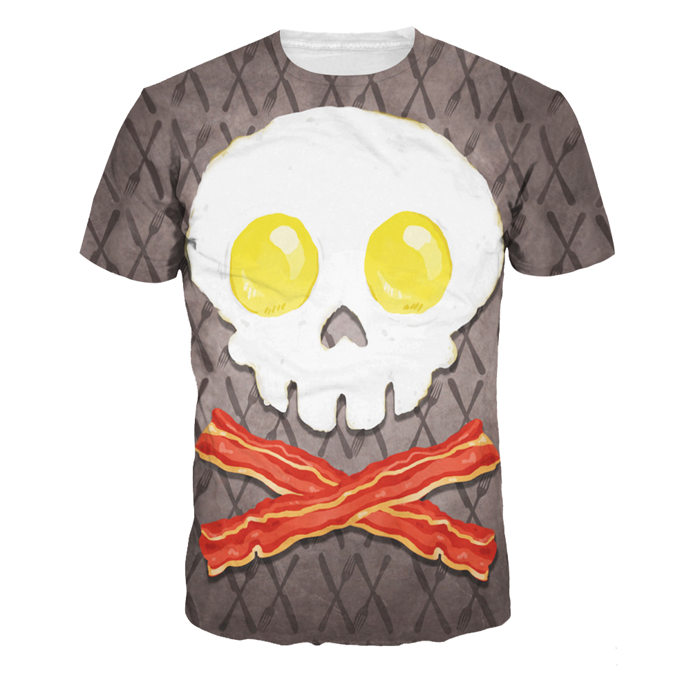 2016 3D PRINT American apparel Skeleton in the shape of an egg couple clothes tee shirts femme skinny punk spandex women tops(China (Mainland))