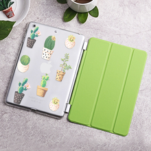 Case for iPad mini 1 2 3, Cactus series Tri-fold smart cover Ultra Slim PU Leather Back Case for iPad mini 1 2 3(China (Mainland))