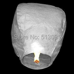 100pcs/lot white Sky Lantern Wishing Lamp BIRTHDAY WEDDING PARTY/flying lantern,Free shipping(China (Mainland))