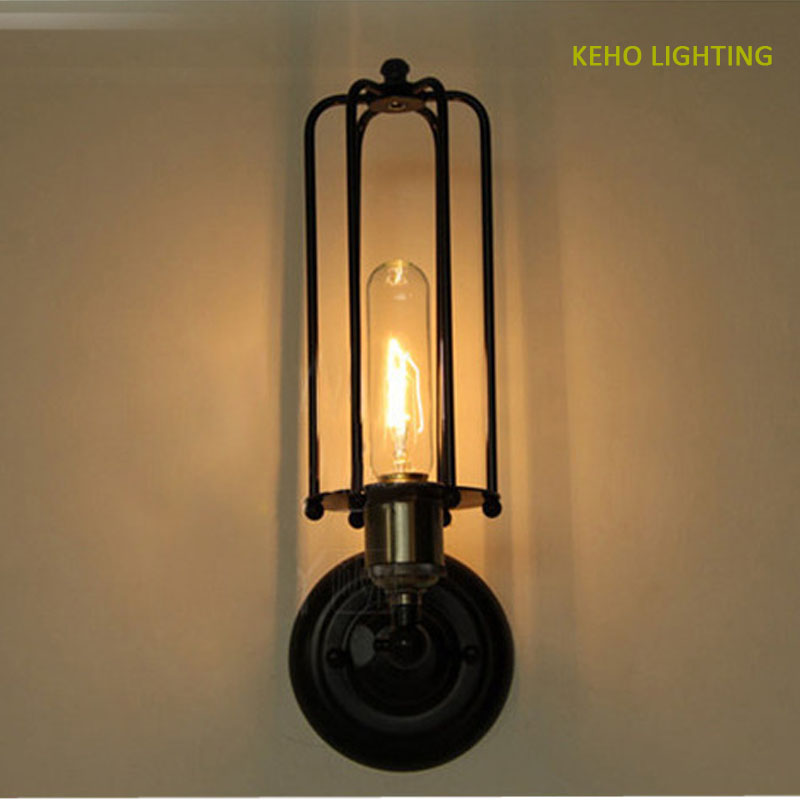 Edison Loft Style Vintage Industrial Retro Wall Lamp Light E27 Holder Iron Restaurant cafe bar for wall lamp free shipping<br><br>Aliexpress