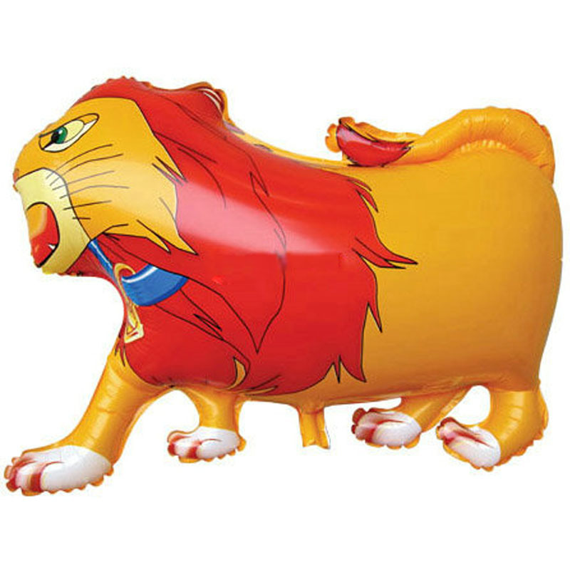 65x50cm classic toys air balloons lion ballonger decoration party lion balloons foil helium inflatable animal toys balloons(China (Mainland))