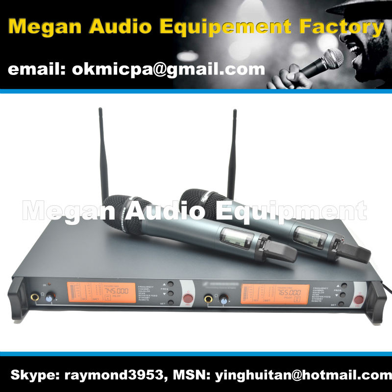 Free Shipping , em2500 professional UHF wireless microphone , 2500 handheld transmitter wireless microphone, dual wireless mic<br><br>Aliexpress