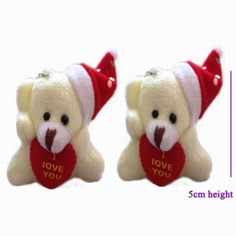 5cm heart teddy bear with hat 4