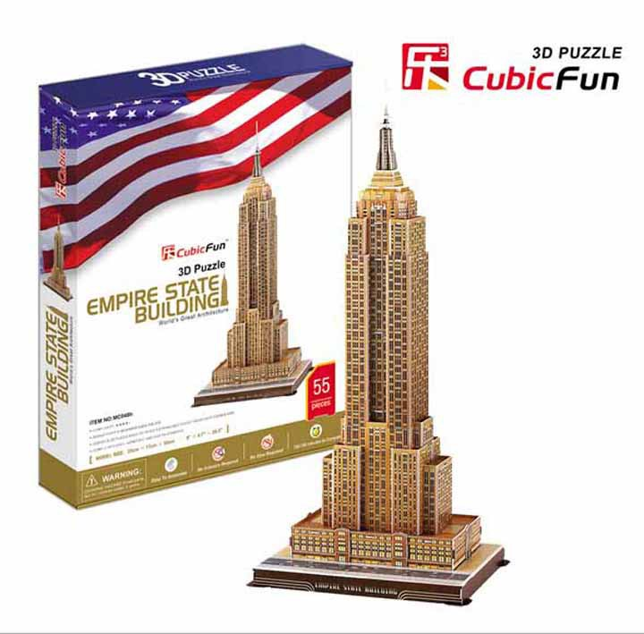 Paper 3D DIY Empire State Building Large Jigsaw Puzzle Free Shipping Model Free Shipping(China (Mainland))