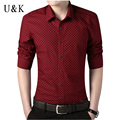 UNIVOS KUNI Men Shirt 2016 New Mens Clothing Autumn Long Sleeve Shirts Chemise Homme Camisa Social