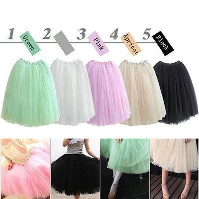 New 2015 Women Stylish 5 Layers Tutu Princess Long Skirt Petticoat Knee-Length Sweet Girl Skirts Free shipping(China (Mainland))