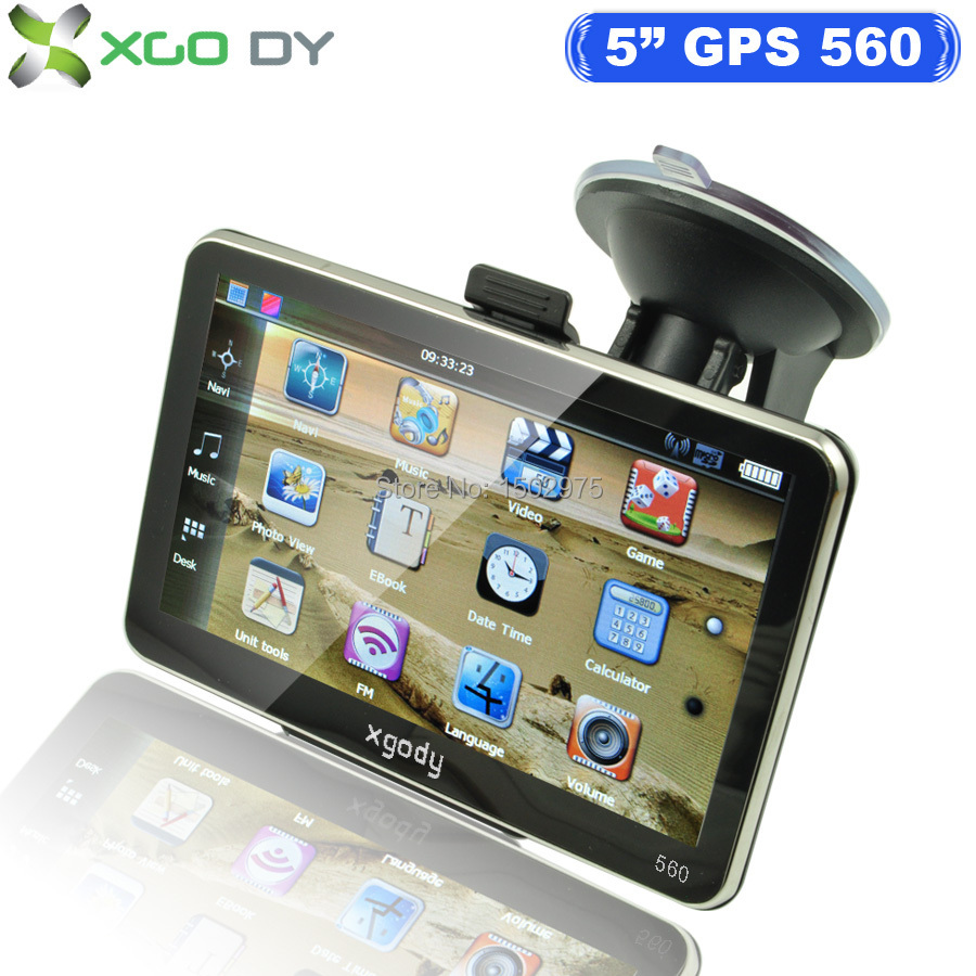 XGODY 5 inch 560 Sat Nav Truck Car GPS Navigation Navigator Upgrade Russia/Spain/ Europe/USA/Canada New Maps USA UK AU STOCK(China (Mainland))
