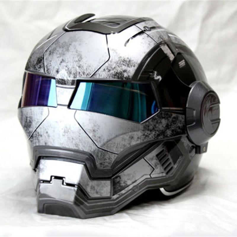 NEW Gray MASEI IRONMAN Iron Man helmet motorcycle helmet retro half helmet open face helmet 610 ABS casque motocross(China (Mainland))