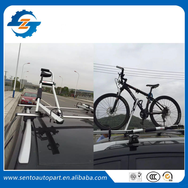 2016 New Design Universal silver color aluminium car roof bike rack bicycle carrier(China (Mainland))