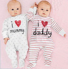 Baby Kids Newborn Infant Romper Outfit Clothing Set baby clothing sets rompers suits toddler outfits 2 Version 2016 New