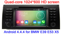 Quad Core 1024X600 HD Capacitive Screen Android 4.4.4 Car DVD GPS For BMW E39 E53 X5 with 16GB Nand WIFI 3G Radio Stereo