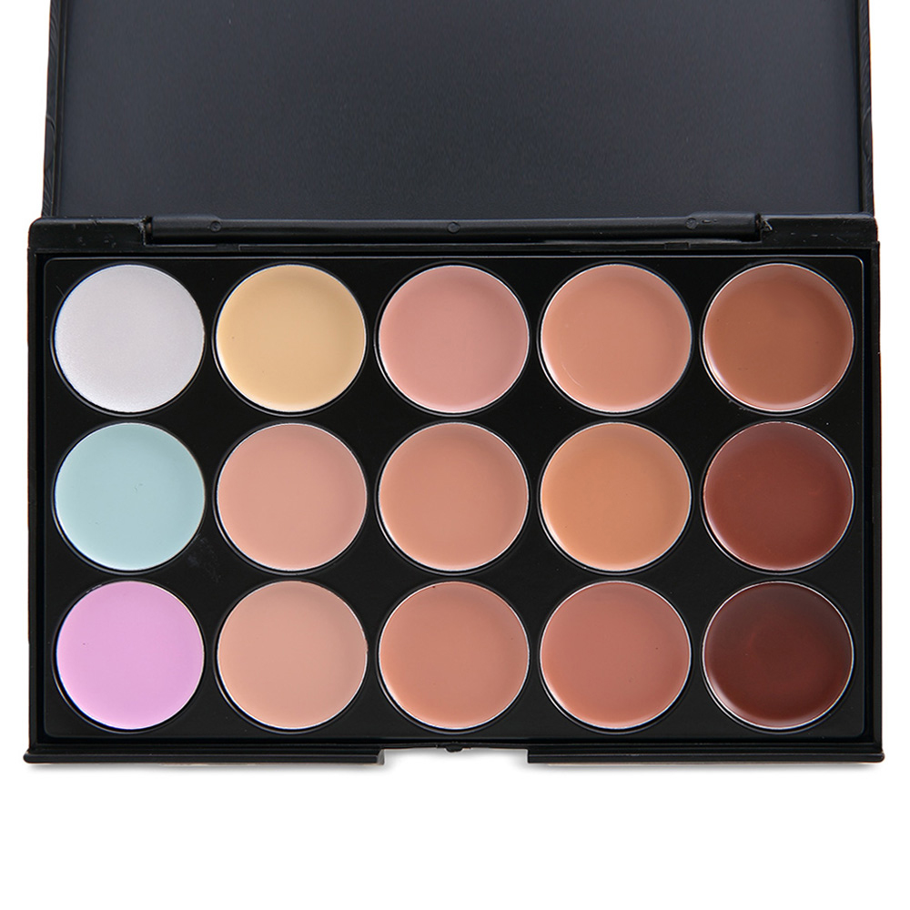 15 colours professional concealer makeup base palettes. Black Bedroom Furniture Sets. Home Design Ideas
