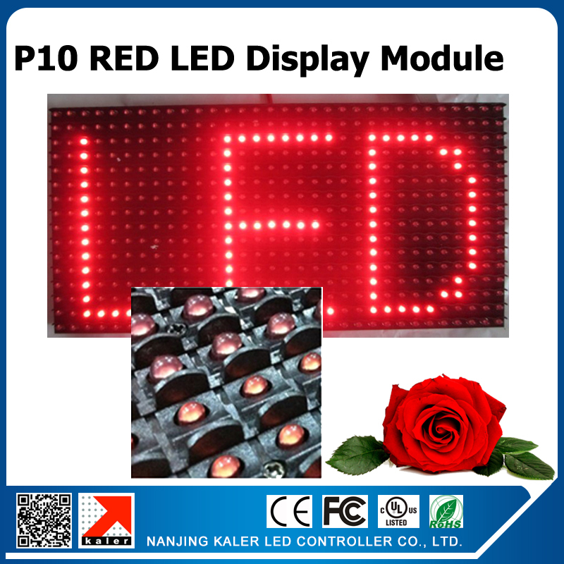 32x16cm P10 semi-outdoor red color led display module scrolling message red led panel working with BX text control card(China (Mainland))