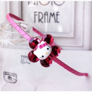 2015 hot style hello kitty Hairbands children's cartoon hair clips kids Barrette headwear headbands baby girl kids hairpin(China (Mainland))